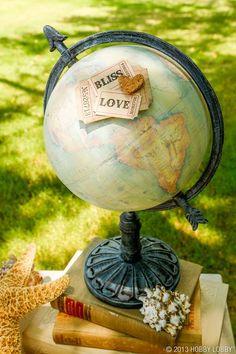 Travel theme globe decoration