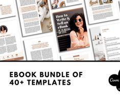 20 pages Canva e-book template. Perfect support for your email list. 3 different cover pages. 20 page Ebook template for Canva. Easy to edit – fully customizable. Grow your email list and earn passive income! Preview Instagram, Instagram Blog, Texture Web, Media Kit Template, Welcome Packet, Identity, Design Brochure, Creative Brochure, Web Design