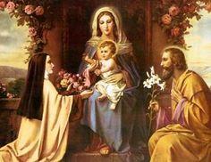 Santa Teresinha e a Sagrada Família.