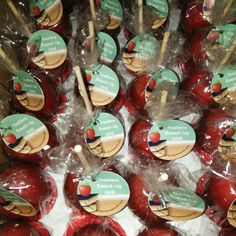 Miss Birdsong's Sweet Tooth flavored apples for teacher appreciation celebration.