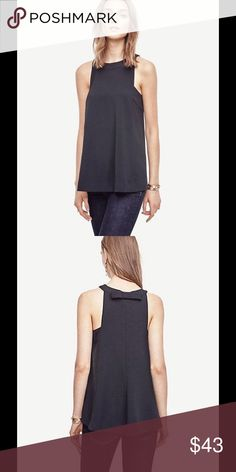 Ann Taylor bow back top Ann Taylor bow back top.  NWT. Great with skinny jeans 👖. Ann Taylor Tops