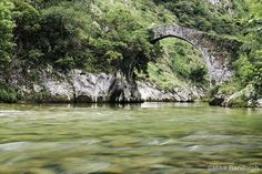Cares River in Asturias, Spain