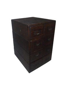 Antique File Card Cabinet on Chairish.com