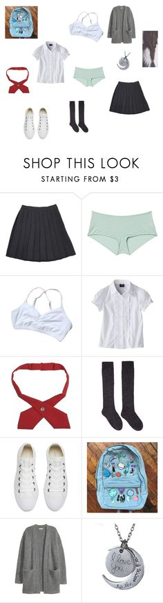 """Liz #5th set '"" by miss-brownstone06 ❤ liked on Polyvore featuring Monki, French Toast, Isabel Marant, Converse, Kofta, fanfic, PTU and 3rdChapter"