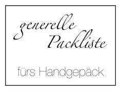Packliste fürs Handgepäck