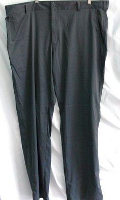 NIKE GOLF Men' Dri Fit Flat Front Pants Size 40x32 Polyester Blend #NikeGolf #DressFlatFront