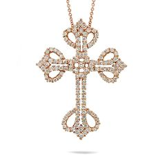 Uniquepedia.com - 1.94ct 18k Rose Gold Diamond Cross Pendant Necklace, $2,912.00 (http://www.uniquepedia.com/1-94ct-18k-rose-gold-diamond-cross-pendant-necklace/)