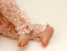 Baby girl lace legging pink Lace Tights by bugnbee on Etsy, $15.00