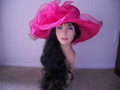 Hot pink Kentucky Derby hat by RealHousewifeHats on Etsy