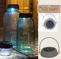 Colonial Tin Mason Jar Lid - 1 Solar Powered Light HANGING Galvanized Barn Roof ** Be sure to check out this awesome product.