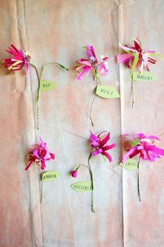 Paper Scrap Flowers DIY