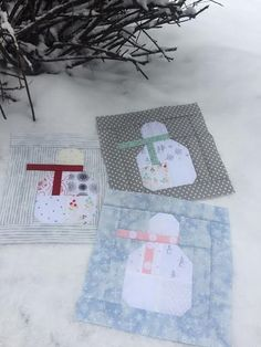 free snowman block tutorial, compliments of Lori Holt.