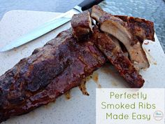 Looking for masterbuilt smoker recipes? These smoked ribs are amazing and so easy to make with the help of the Masterbuilt Electric Smokehouse. Pellet Grill Recipes, Grilling Recipes, Rib Recipes, Turkey Recipes, Game Recipes, Recipies, Electric Smoker Rib Recipe, Best Smoked Ribs, Masterbuilt Smoker
