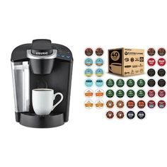 Keurig Brewer + Variety Pack of K-Cups (ship separately) Pod Coffee Makers, Best Coffee Maker, Drip Coffee Maker, Best Prime Day Deals, Amazon Prime Day Deals, Amazon Deals, Best Espresso Machine, Christmas Stocking Stuffers, K Cups