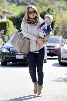 Hilary Duff & Luca: LA Playdate  LOVING the Chanel bag!