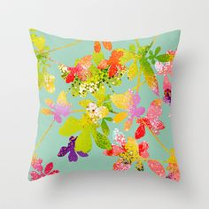 Sorriso Throw Pillow by Allison Holdridge - $20.00