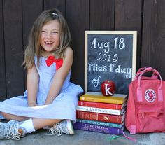 Easy and cute ideas for first day of school photos