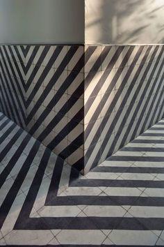 Black and white - tiles - Tea Room. Mexico City