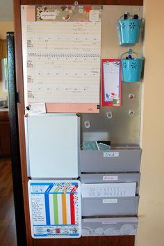 We love seeing the Board Dudes Chore Chart and Dry Erase boards in this command center space!
