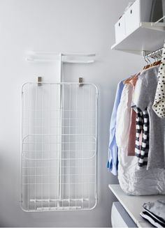Easy and organised laundry routines - IKEA Ikea Laundry Room, Laundry Room Cabinets, Ikea Algot, Laundy Room, Childrens Bathroom, Laundry Solutions, Storage Room, Bathroom Inspiration, Home Organization