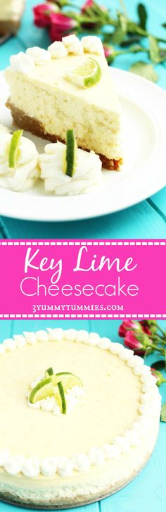 Key Lime Cheesecake  Crust: 2 C. Graham Cracker Crumbs ¼ C. Sugar 4 Tbsp. Butter, Melted Filling: 3 8 oz.Cream Cheese; softened 1 can Sweetened Condensed Milk 3 Eggs 1 Tsp. Vanilla ¼ C. Key Lime Juice Zest of 1 lime