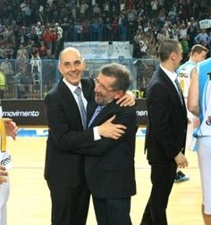 sx Coach Attilio Caja and The President Aldo Vanoli