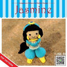 PDF Pattern  Amigurumi Jasmine Pattern par rabbizdesign sur Etsy, $6.00