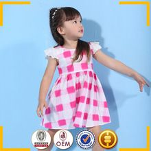 Crianças vestidos de algodão / coréia summer fashion vestido 2015 / crianças de marca roupa por atacado