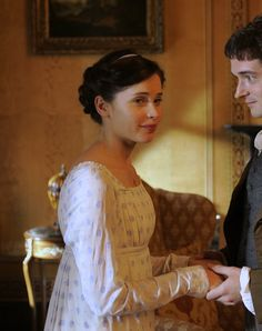 """mademoisellelapiquante: """" Felicity Jones as Catherine Morland in Northanger Abbey - 2007 """" Jane Austen Northanger Abbey, Jane Austen Novels, Historical Costume, Historical Clothing, Hoop Skirt, Felicity Jones, Gowns Of Elegance, Period Costumes, Julia"""