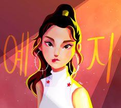 ITZY - YEJI fanart - pleased to see fan art for members of this new and promising group. Japanese Drawings, Kpop Drawings, Fandom, Fan Art, Korean Art, Kpop Fanart, Girl Cartoon, K Idols, Korean Girl Groups
