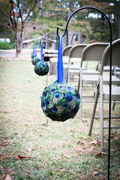 Peacock Wedding Peacock Pomander/Kissing Ball by ashlasiter11611, $65.00