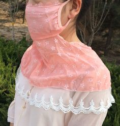 This seems to be mostly for UV protection. Very femme! Fashion Face Mask, Face Masks, Tulle, Skirts, Tutu, Skirt, Gowns, Skirt Outfits