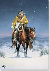 Christmas Card - Christmas Cowboy   Jack Sorenson   70916   Leanin' Tree