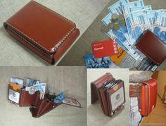 Компактный кошелек. RFID-Защита. Портмоне. Бумажник – купить или заказать в интернет-магазине на Ярмарке Мастеров | S-Fold. Кошелек продан.<br /> Ультракомпактная…