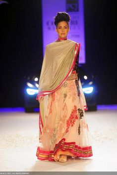 Floral lengha by Varun Bahl at Delhi Couture Week 2013