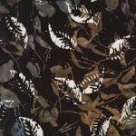 Timeless Treasures Fabrics Rose Tonga Batiks by Judy Neimeyer Gravel Grey Seasonal Leaves Batik