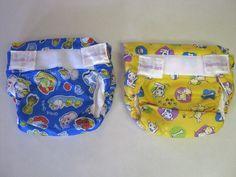 Bumkins Cloth Diapers S Small Lot 2 Blue Yellow #Bumkins