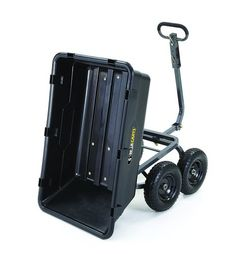 Gorilla Carts Heavy-Duty Poly Yard Dump Cart with 2 In 1 Convertible Handle Capacity Yard Cart, Garden Wagon, Yard Tools, Thing 1, Wheelbarrow, Tractors, Convertible, Vintage, Utility Cart
