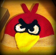 my first angry birds hat