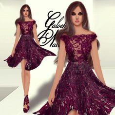 Sweet Purple #Fashion #Sketch #Digital #Illustration #Recommendation #Art #Batik #Art