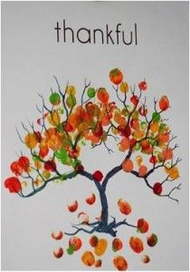 The Thankful Thumbprint Tree has been a Thanksgiving project in many schoolrooms in recent years.