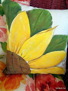 Your place to buy and sell all things handmade : Diy Pillow Covers, Diy Pillows, Decorative Pillow Covers, Fabric Colour Painting, Diy Painting, Painted Canvas Bags, Fabric Paint Designs, Hand Painted Fabric, Cushion Cover Designs