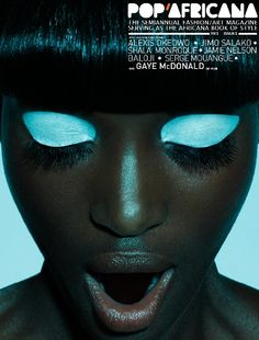 f-l-e-u-r-d-e-l-y-s: Pop'Africana, issue 1 photographer: Jamie Nelson, Oroma Elewa light blue Jamie Nelson, Eye Makeup, Hair Makeup, Makeup Brushes, Coastal Scents, Shooting Photo, Tips Belleza, Looks Cool, Black Is Beautiful