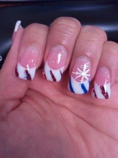 Candy Cane Inspired Christmas Nails - Nail Art Gallery by NAILS Magazine