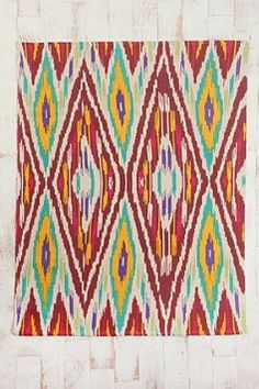 urban outfitters rug $59   4x6 Ikat Rug  kinda pricey but colorful