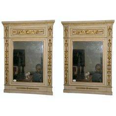 Pair of Italian Empire Mirrors | 1stdibs.com