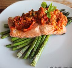 Salmon alla Puttanesca. This looks amazing, can't wait to try it!