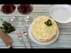 Salată Mimoza cu sunca si cascaval salata meze ve kanepe Tarifleri videolu tarif – The Most Practical and Easy Recipes Starters, Camembert Cheese, Pasta, Breakfast, Ethnic Recipes, Bathroom, Food, Salads, Morning Coffee