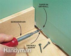 Interior Trim Work Basics Great hints for interior trim work Baseboard Molding, Door Molding, Moldings And Trim, Baseboards, Drywall, Crown Molding, Moulding, Work Basics, Interior Door Trim