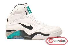 Nike Air Force 180 Mid  White Blue Emerald  (537330-100)